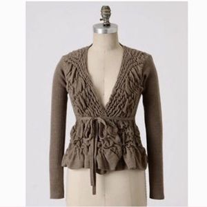 Anthropologie Sparrow Dimpled Cardigan!
